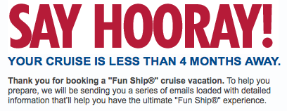 Carnival Cruises Email Notification