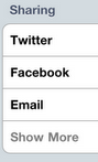 Twitter, Facebook, Social Media Sharing