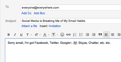 Social Media and Email