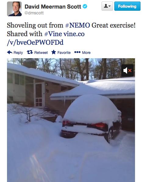 Vine Video during Winter Storm