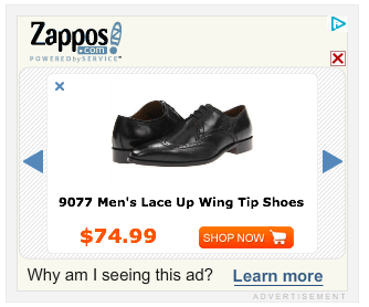 online advertising zappos